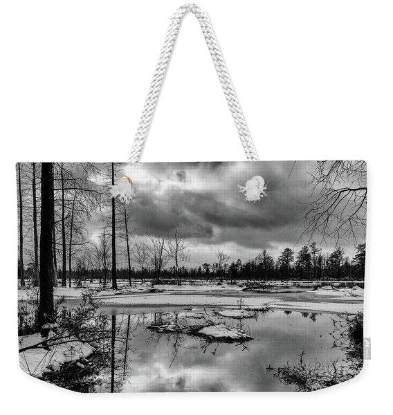 Frozen Mullica River Weekender Tote Bag