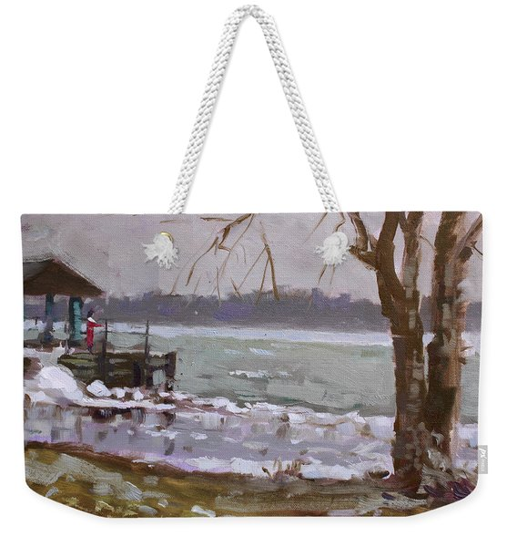 Frozen Niagara River Weekender Tote Bag