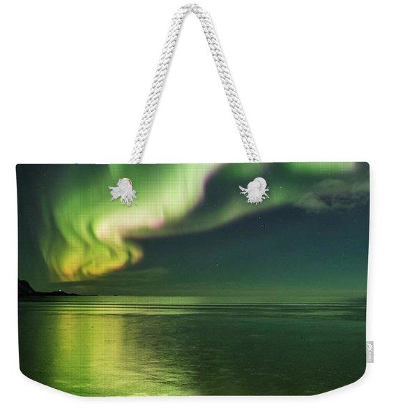 Frozen Reflection Weekender Tote Bag