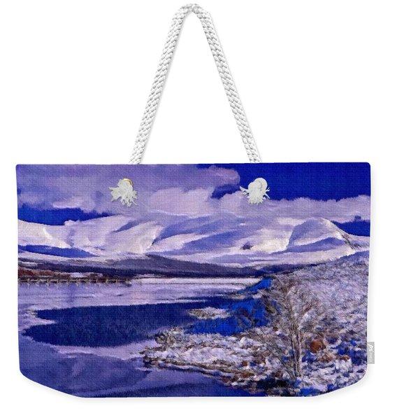 Frozen Shores Weekender Tote Bag