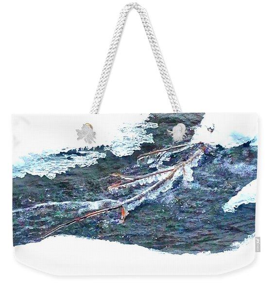 Frozen Stream  Weekender Tote Bag