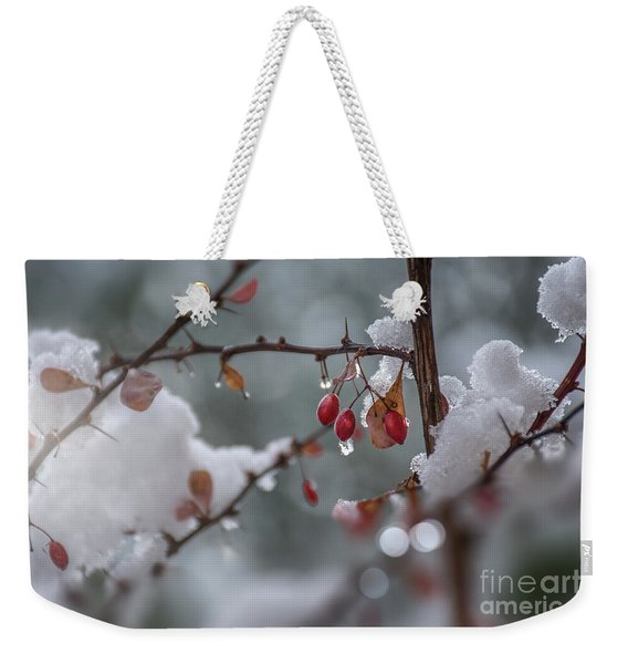 It's Berry Cold Weekender Tote Bag