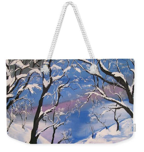 Frozen Tranquility  Weekender Tote Bag