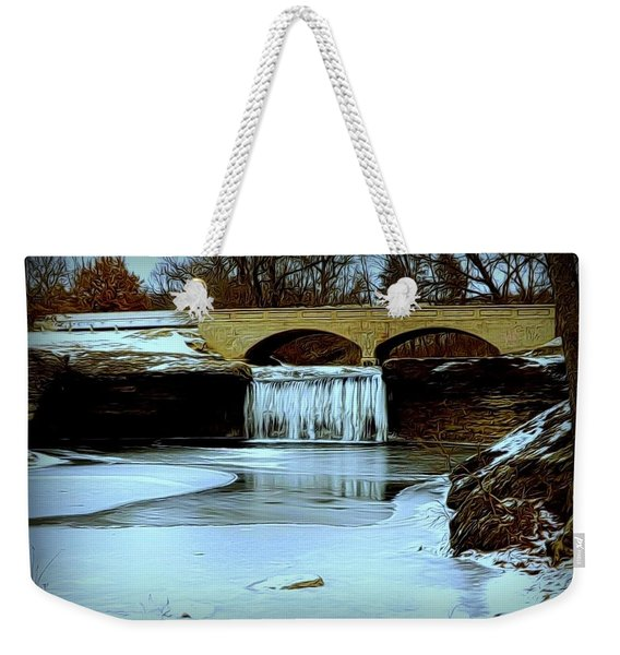 Frozen Tryst Falls, Mo  Weekender Tote Bag