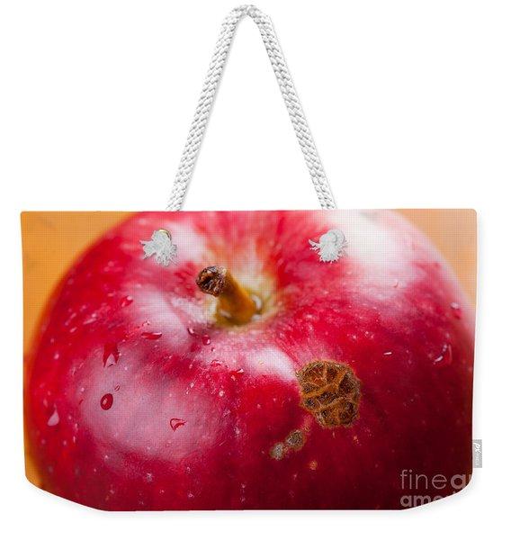 Fruit Disease Apple Scab Lesions On Red Peel  Weekender Tote Bag