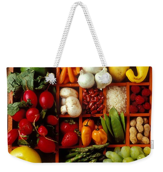 Fruits And Vegetables In Compartments Weekender Tote Bag