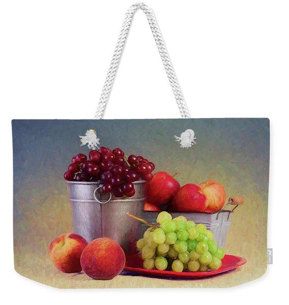 Fruits On Centerstage Weekender Tote Bag