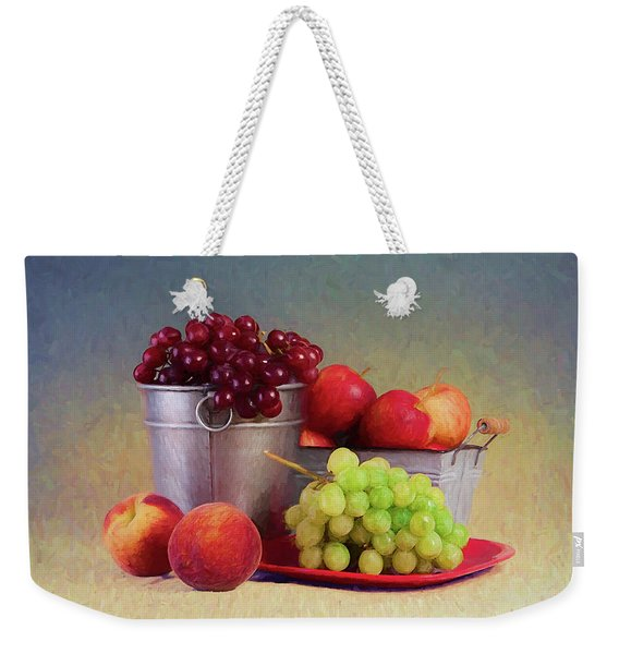 Fruits On Centerstage Weekender Tote Bag