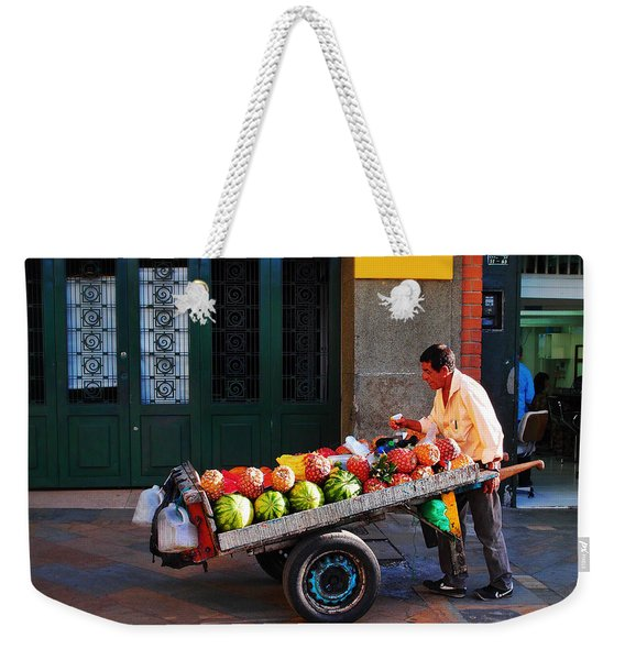 Weekender Tote Bag featuring the photograph Fruta Limpia by Skip Hunt