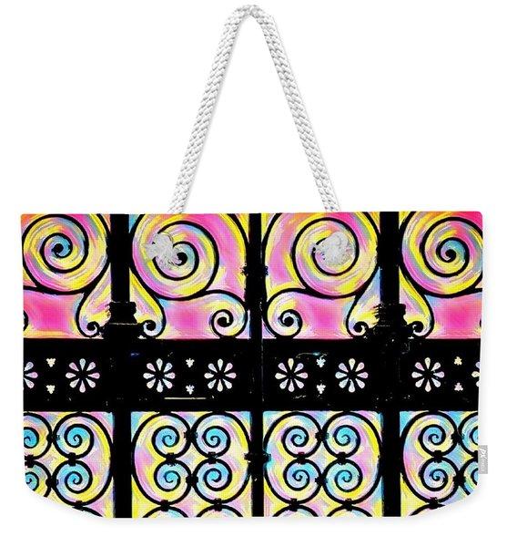Fuchsia Gate  Weekender Tote Bag