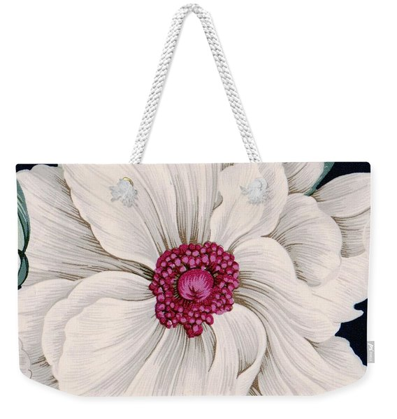 Weekender Tote Bag featuring the mixed media Full Bloom by Writermore Arts