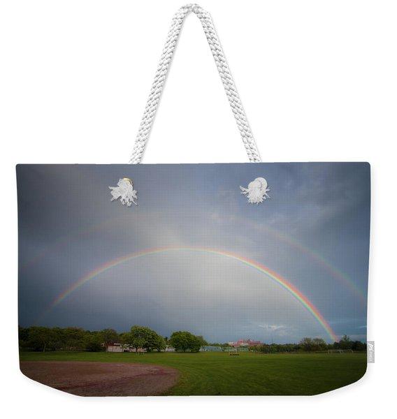 Full Double Rainbow Weekender Tote Bag