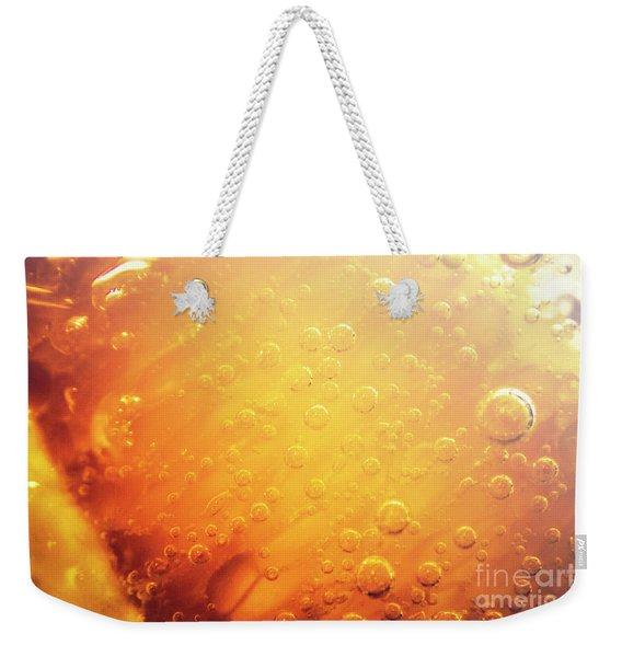 Full Frame Close Up Of Orange Soda Water Weekender Tote Bag