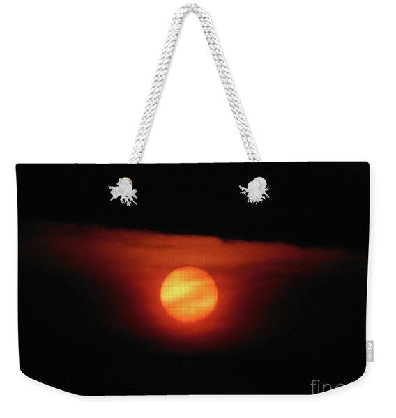 Full Harvest Moon Weekender Tote Bag