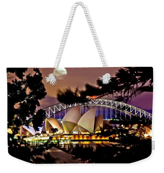 Full Moon Above Weekender Tote Bag