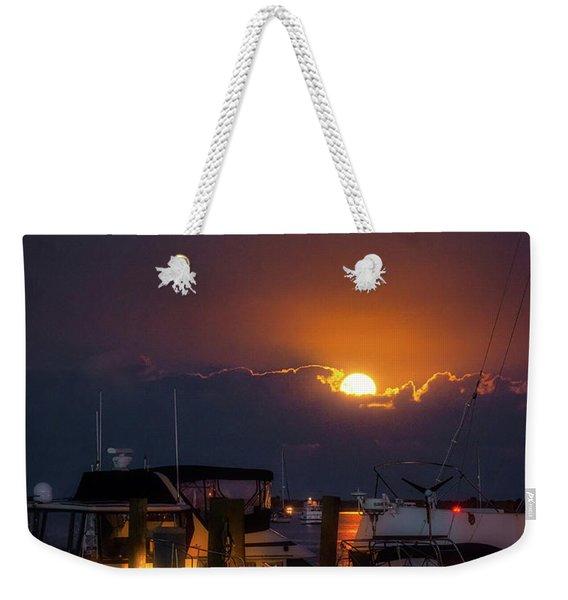 Full Moon At Titusville Weekender Tote Bag