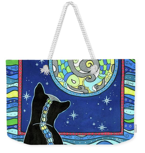 Pisces Cat Zodiac - Full Moon Weekender Tote Bag
