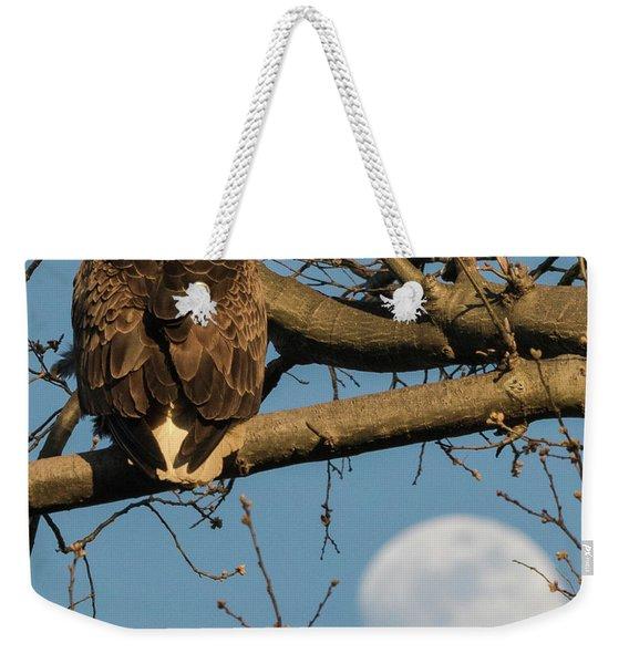 Full Moon Eagle  Weekender Tote Bag