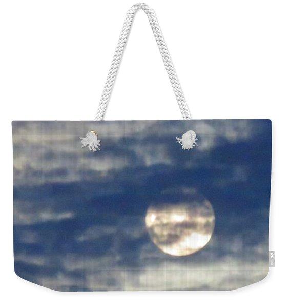 Full Moon In Gemini With Clouds Weekender Tote Bag