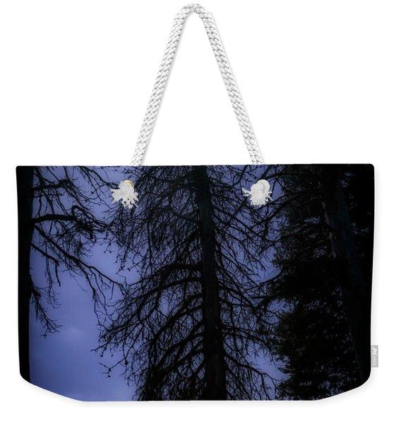 Full Moon In The Woods Weekender Tote Bag