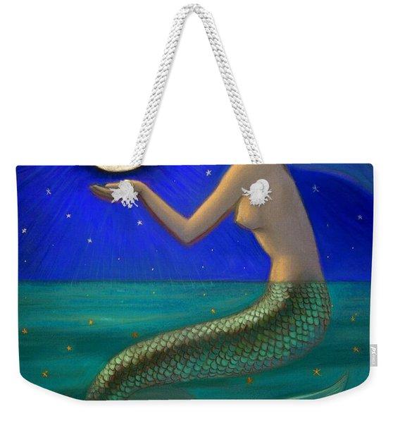 Full Moon Mermaid Weekender Tote Bag