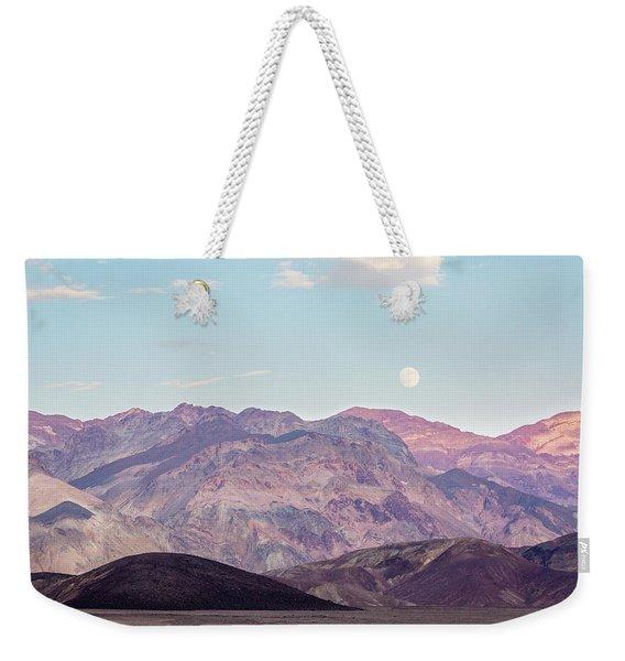 Full Moon Over Artists Palette Weekender Tote Bag