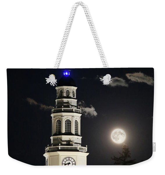 Full Moon Over Miller Library Weekender Tote Bag