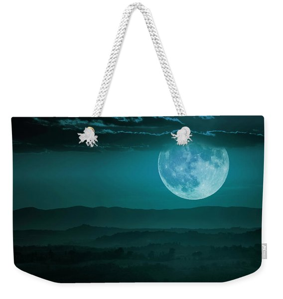 Full Moon Over Tuscany Weekender Tote Bag