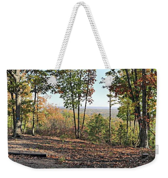 Full Panoramic View From The Summit Of Brown's Mountain Trail Weekender Tote Bag