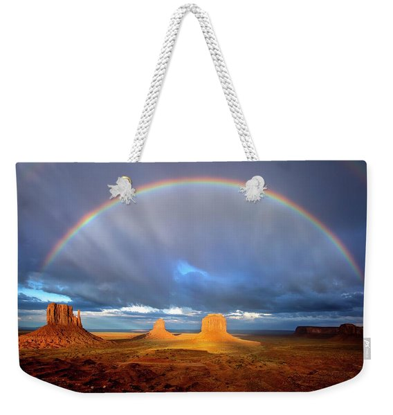 Full Rainbow Over The Mittens Weekender Tote Bag