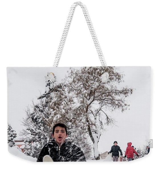 Fun On Snow-2 Weekender Tote Bag