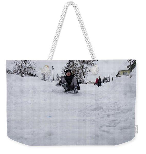 Fun On Snow-3 Weekender Tote Bag