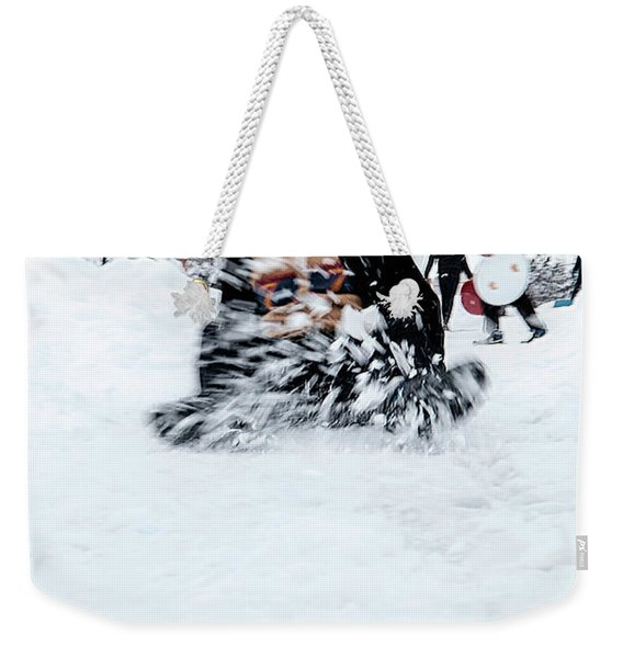 Fun On Snow-5 Weekender Tote Bag