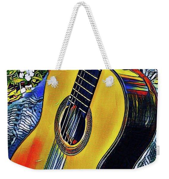 Funky Guitar Weekender Tote Bag