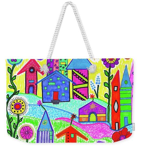 Funky Town 3 Weekender Tote Bag