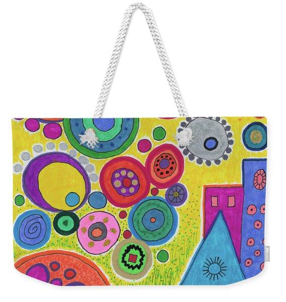 Funky Universe Weekender Tote Bag