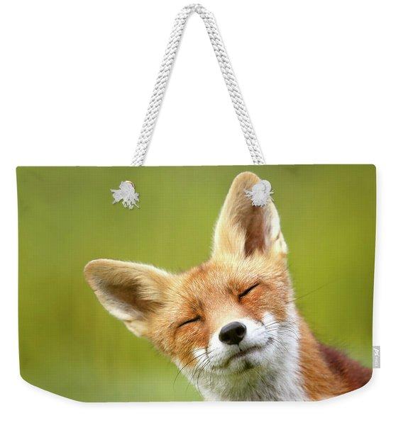 Funny Fox Photo Bombing My Photo Weekender Tote Bag
