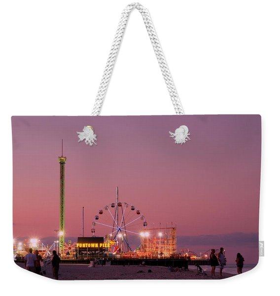 Funtown Pier At Sunset IIi - Jersey Shore Weekender Tote Bag