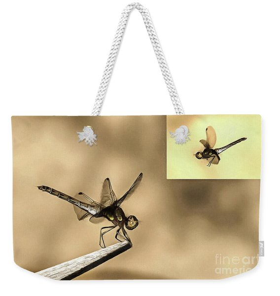 Furniture And Flying Dragonfly Weekender Tote Bag
