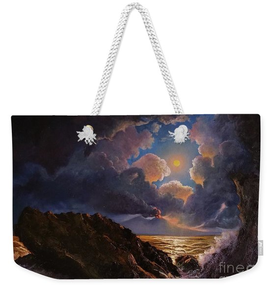 Weekender Tote Bag featuring the painting Furor by Rosario Piazza