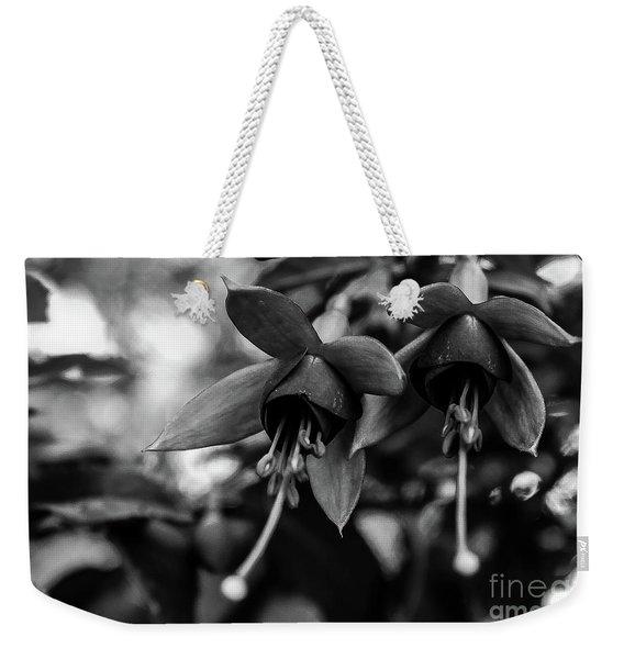 Fuchsia, Black And White Weekender Tote Bag