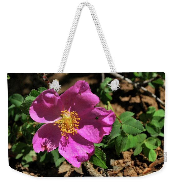 Weekender Tote Bag featuring the photograph Fuschsia Mountain Accent by Ron Cline