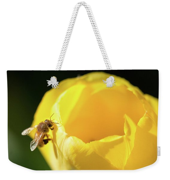 Weekender Tote Bag featuring the photograph Fuzzy Pollen by Brian Hale