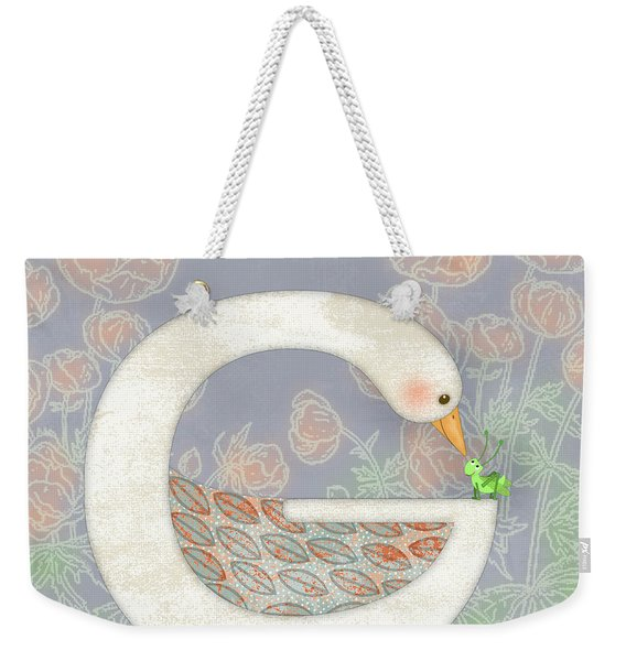 G Is For Goose And Grasshopper Weekender Tote Bag