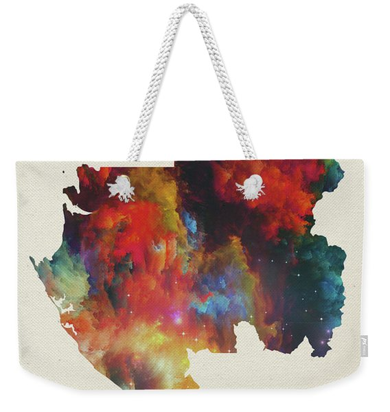 Gabon Watercolor Map Weekender Tote Bag