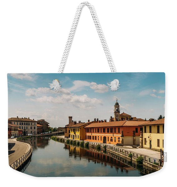 Gaggiano On The Naviglio Grande Canal, Italy Weekender Tote Bag