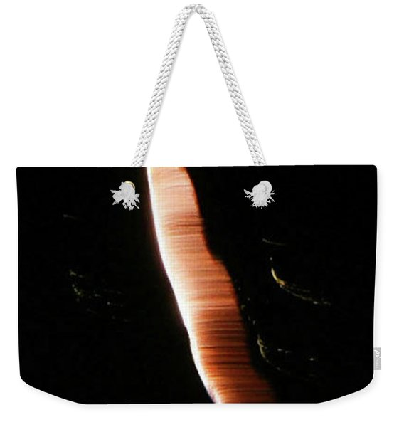 Weekender Tote Bag featuring the photograph Galactic Tapeworm by Sally Sperry