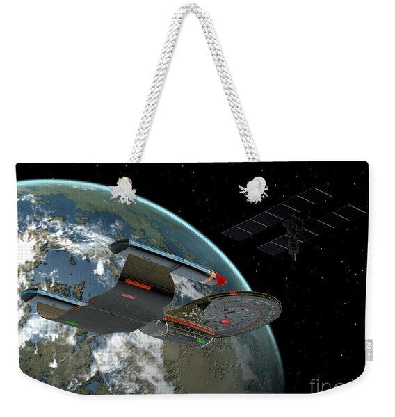 Galaxy Class Star Cruiser Weekender Tote Bag