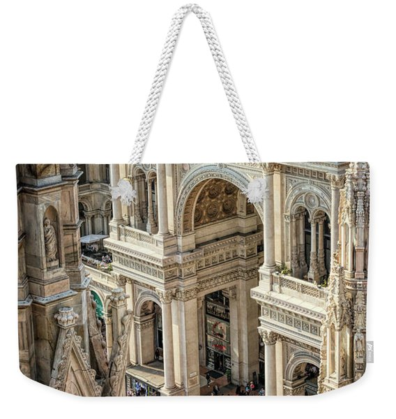 Galleria Milan Italy From Above Weekender Tote Bag