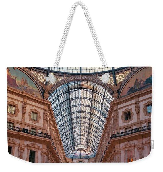 Galleria Milan Italy Weekender Tote Bag